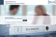 Online-Informationen zur DSGVO