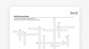 DSGVO-Kreuzworträtsel